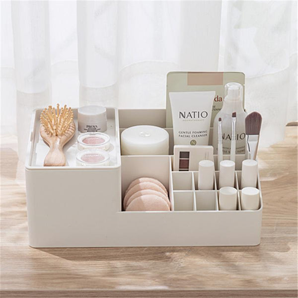 Minimalist Large Capacity Makeup Storage with Lipstick Grids - Organise my makeup