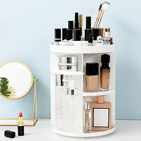 Minimalist Rotating Cosmetic Makeup Storage Organiser - Organise my makeup