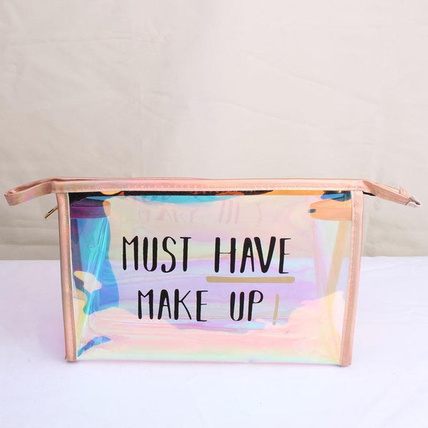 Must Have Holo Makeup Bag - Organise my makeup