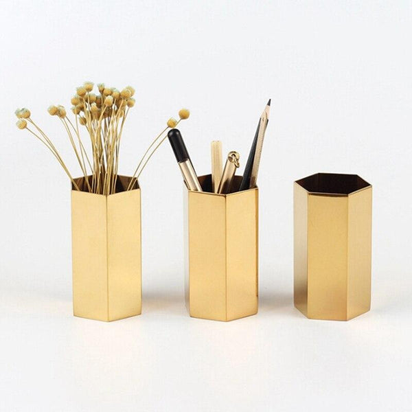 Nordic Lux Gold Makeup Brush Storage - Organise my makeup