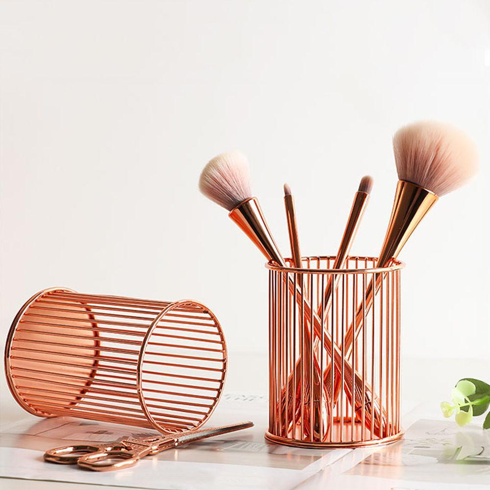 Nordic Rose Gold Wire Makeup Brush Holder - Organise my makeup
