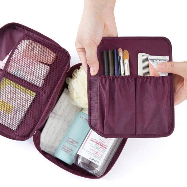 Nylon Makeup Cosmetic Case and Wash Bag - Organise my makeup