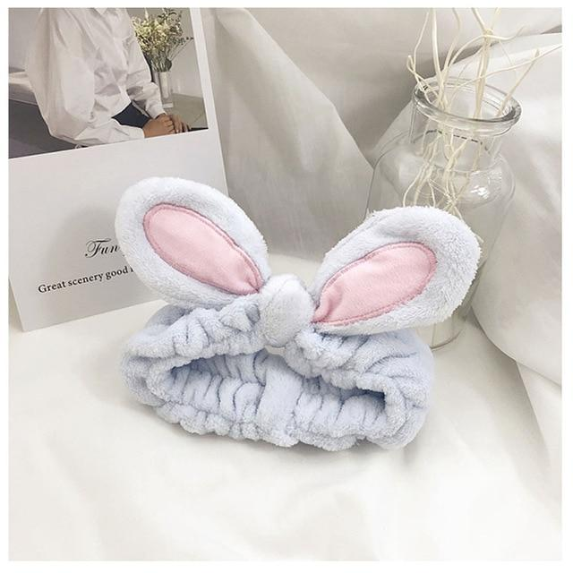 Rabbit Ear Washing Makeup Headband - Organise my makeup