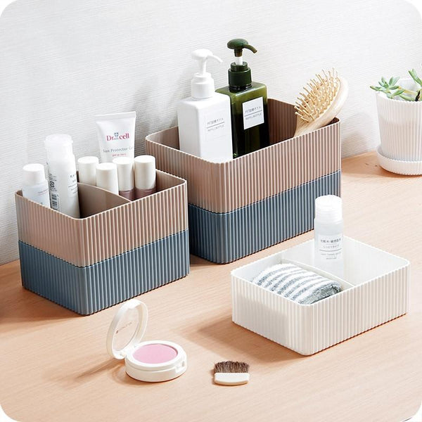 Stackable Ribbed Makeup Organisers - Organise my makeup