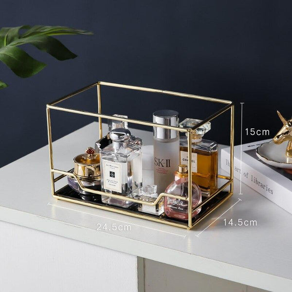 Stylish Gold Wire Makeup Beauty Organiser and Display Storage - Organise my makeup