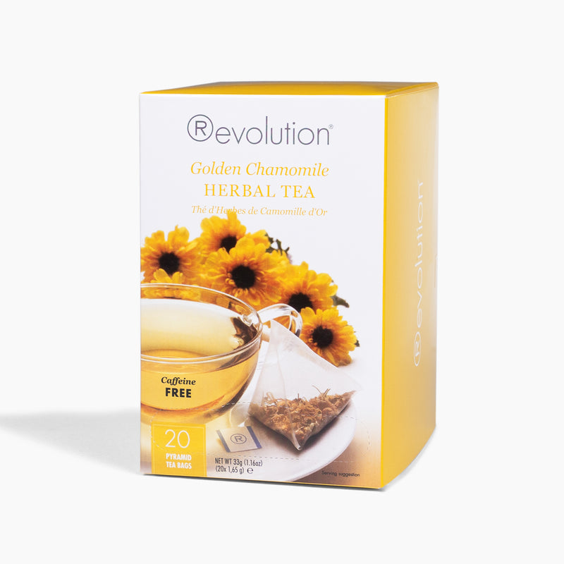 REVOLUTION Golden Chamomile Caffeine-Free Herbal Tea