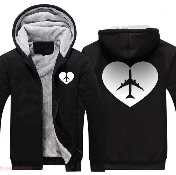 AIRPLANE LOVER DESIGNED ZIPPER HOODIE