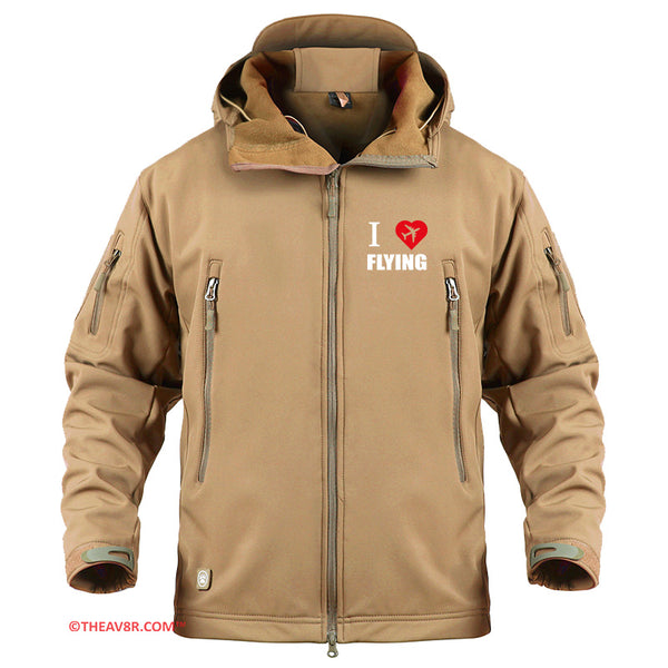 I LOVE FLYING DESIGNED - MILITARY FLEECE