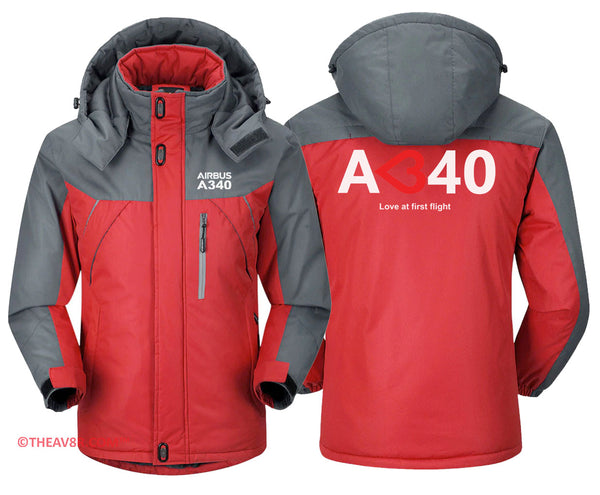 AIRBUS A340 LOVE AT FIRST TIME DESIGNED HOODIE