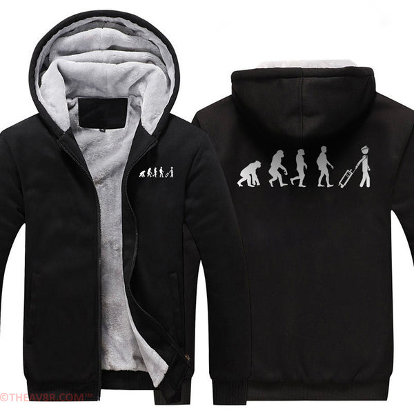 EVOLUTION OF PILOT DESIGNED ZIPPER HOODIE