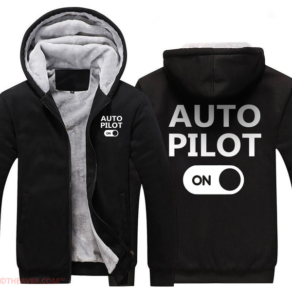 AUTO PILOT ON DESIGNED ZIPPER HOODIE