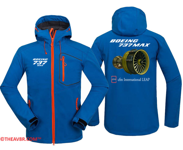 BOEING 737 CFM INTERNATIONAL LEAP DESIGNED HOODIE