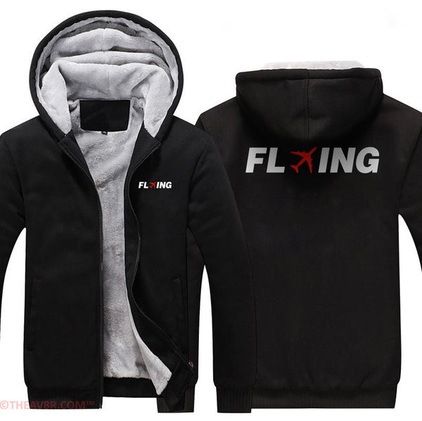 FLYING DESIGNED ZIPPER HOODIE