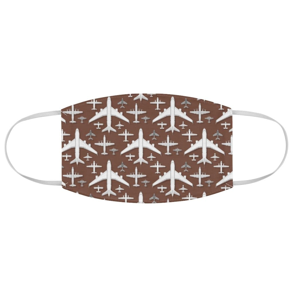 Printify Accessories One size Airplane seamless pattern background vector illustration top view plane