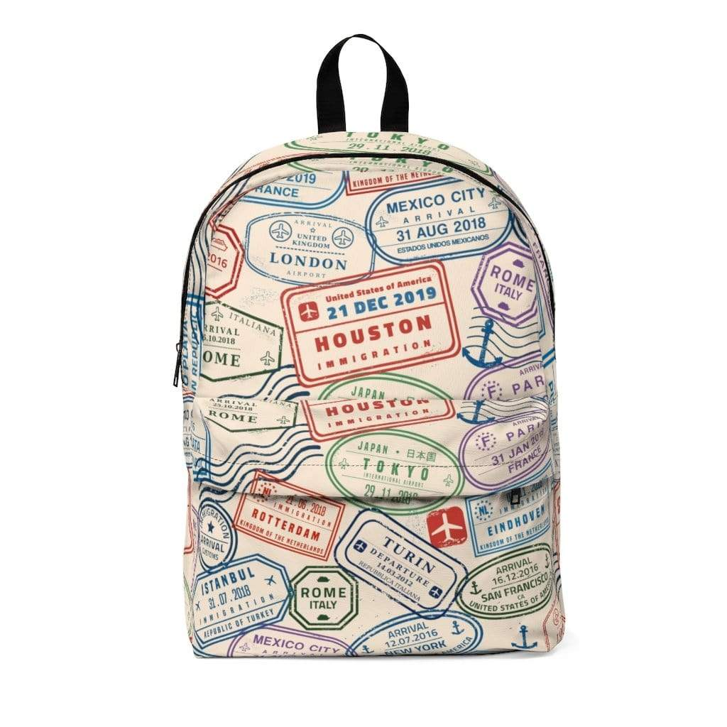 Printify Bags One Size PASSPORT STAMP BACKPACK