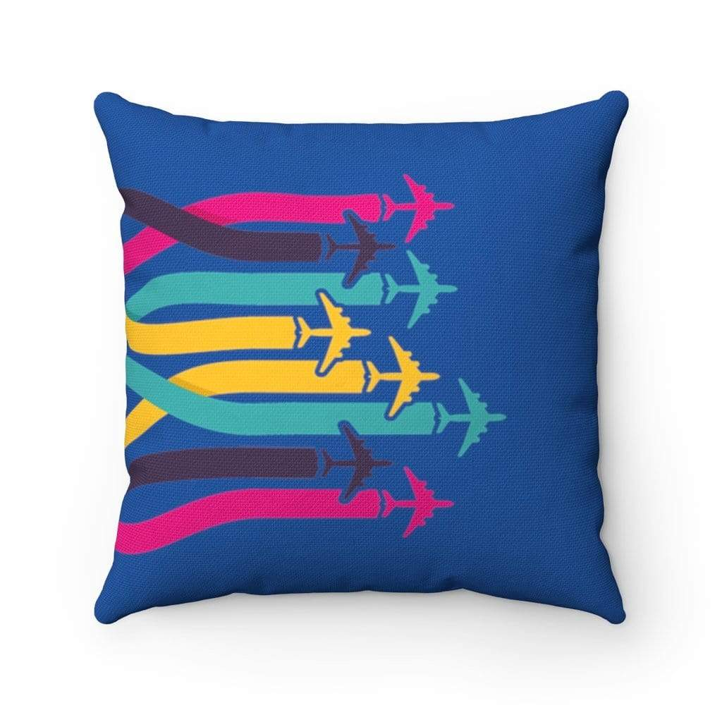 "Printify Home Decor 14"" x 14"" 7 AIRPLANES PILLOW"