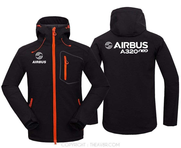 AIRPLANE LOVER Hoodie Jacket Black / S Airbus A320neo