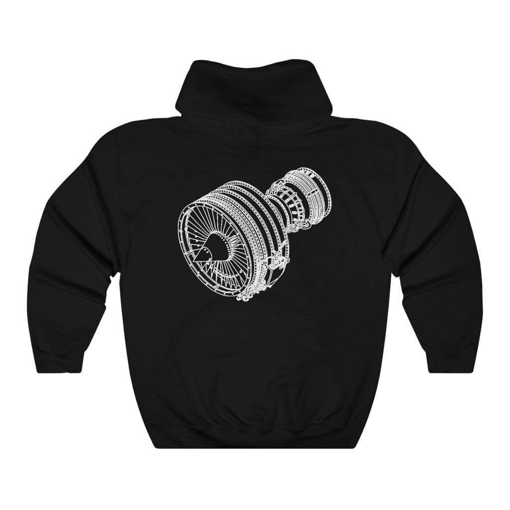 Printify Hoodie L / Black Unisex Heavy Blend™ CFM56 Hooded Sweatshirt