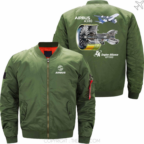 MA1 Jacket Army green thin / S AIRBUS A380 GP7000 ENGINE