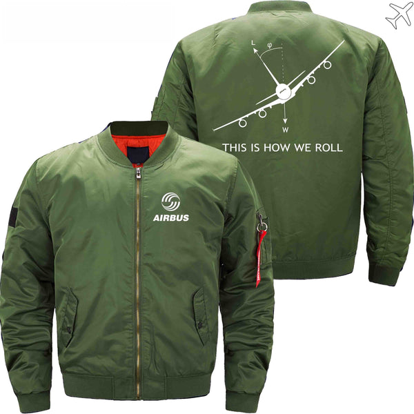 MA1 Jacket Army green thin / S THIS IS HOW WE ROLL A380