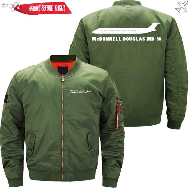 MA1 Jacket Army green thin / XS McDonnell Douglas MD-90