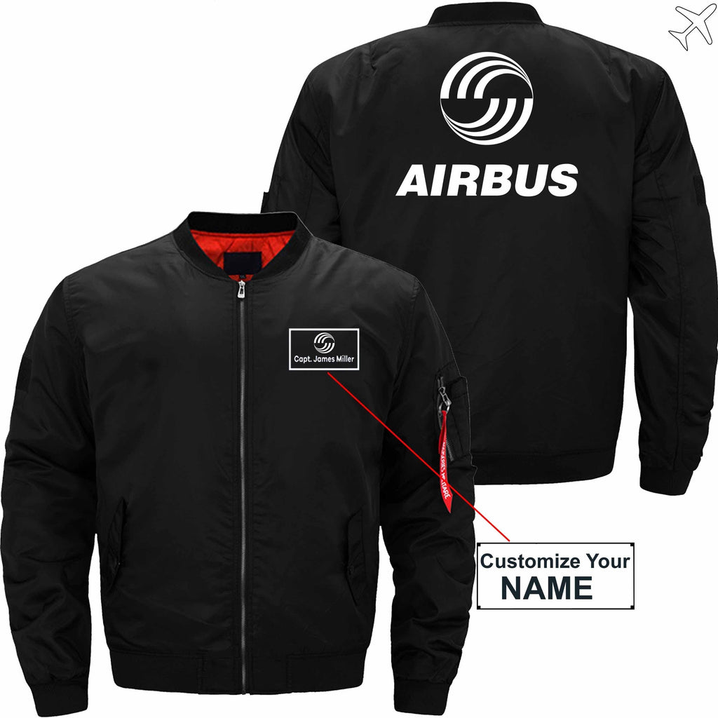 MA1 Jacket Black thin / S Airbus CUSTOM NAME JACKET