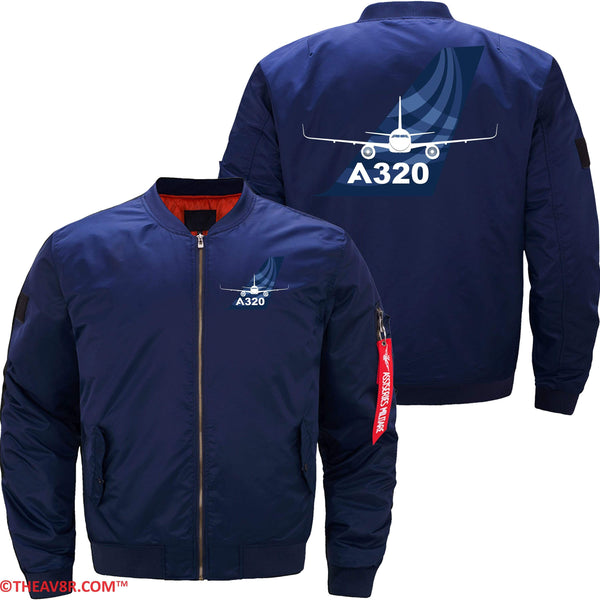 MA1 Jacket Dark blue thin / XS AIRBUS A320 DESIGNED JACKET