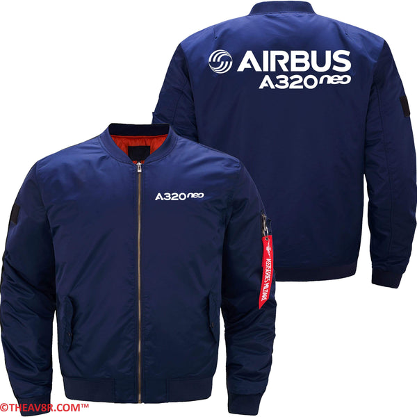 MA1 Jacket Dark blue thin / XS AIRBUS A320 NEO DESIGNED JACKET