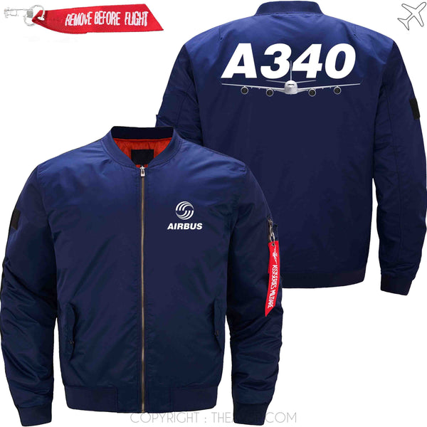 MA1 Jacket Dark blue thin / XS AIRBUS A340 DESIGN  MA1 JACKET