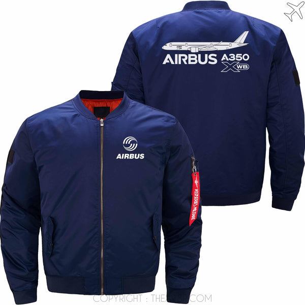 MA1 Jacket Dark blue thin / XS Airbus A350 XWB Aircraft