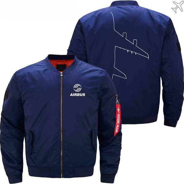 MA1 Jacket Dark blue thin / XS AIRBUS A380  DESIGN MA1 JACKET