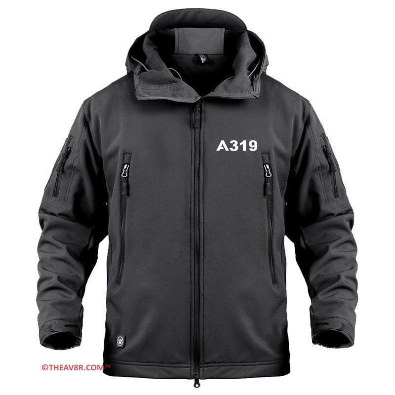 AIRPLANE LOVER Military Fleece AIRBUS A319 DESIGNED MILITARY FLEECE