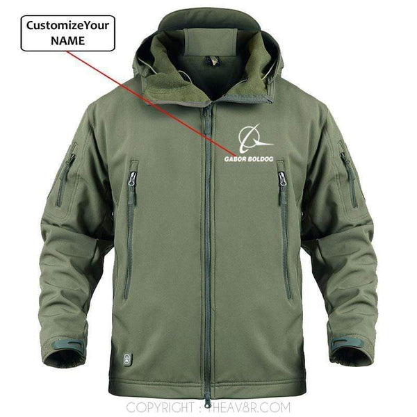 AIRPLANE LOVER Military Fleece Army Green / S Custom Name Boieng logo Military Fleece Warm Tactical Jacket
