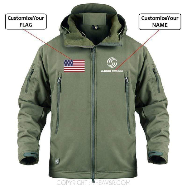 AIRPLANE LOVER Military Fleece Army Green / S Custom Name & Flag Airbus logo  Military Fleece Warm Tactical Jacket