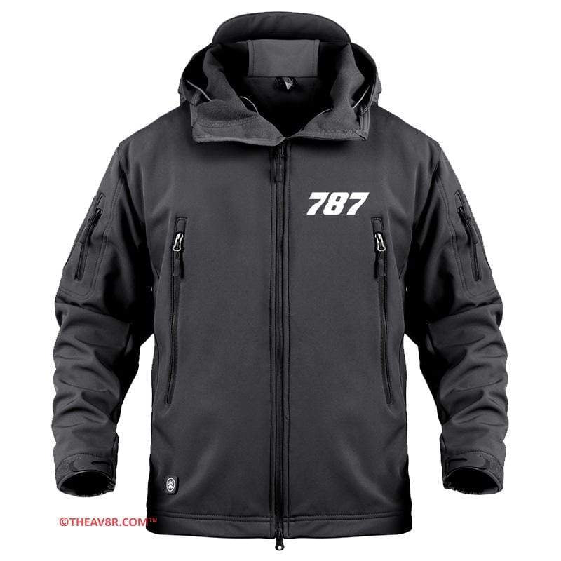 AIRPLANE LOVER Military Fleece Black / S BOEING 787 DESGINED MILITARY FLEECE