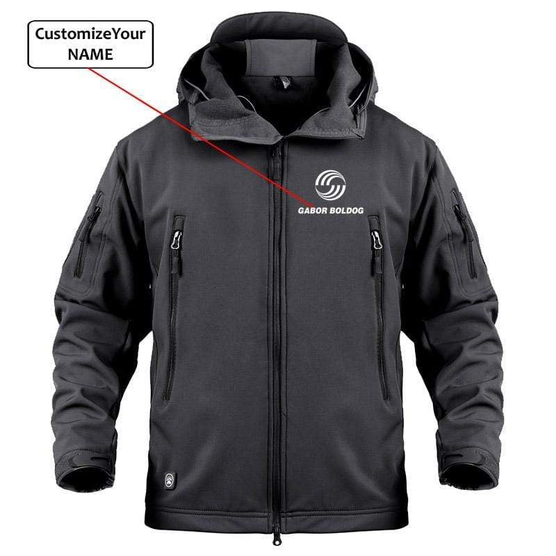 AIRPLANE LOVER Military Fleece Black / S Custom Name Airbus logo Military Fleece Warm Tactical Jacket