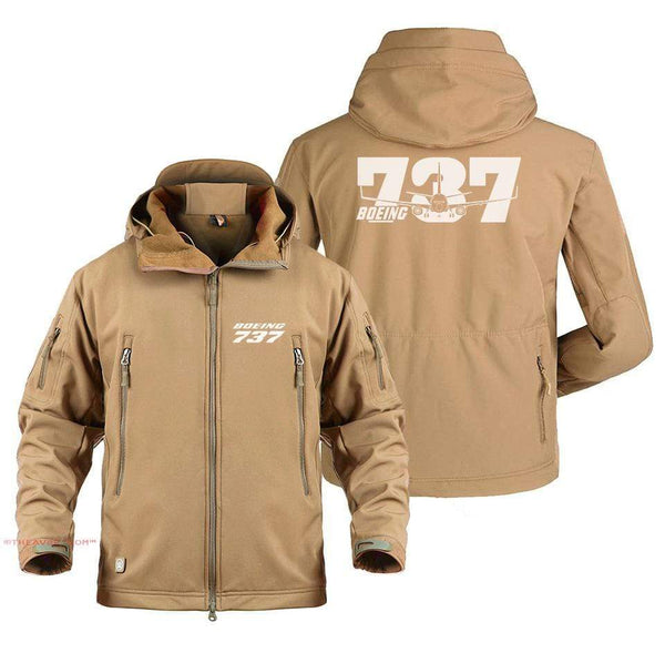 AIRPLANE LOVER Military Fleece BOEING 737 DESIGNED MILITARY JACKET