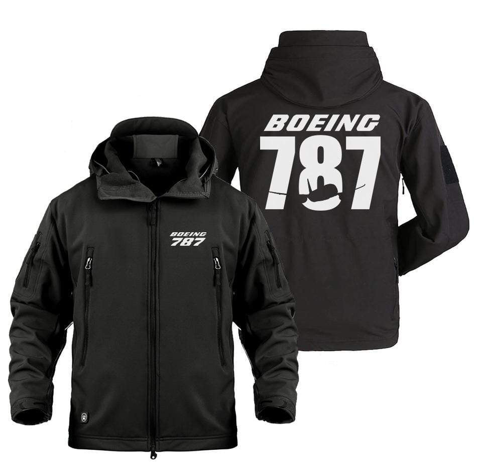 AIRPLANE LOVER Military Fleece BOEING 787 DESIGNED MILITARY JACKRT
