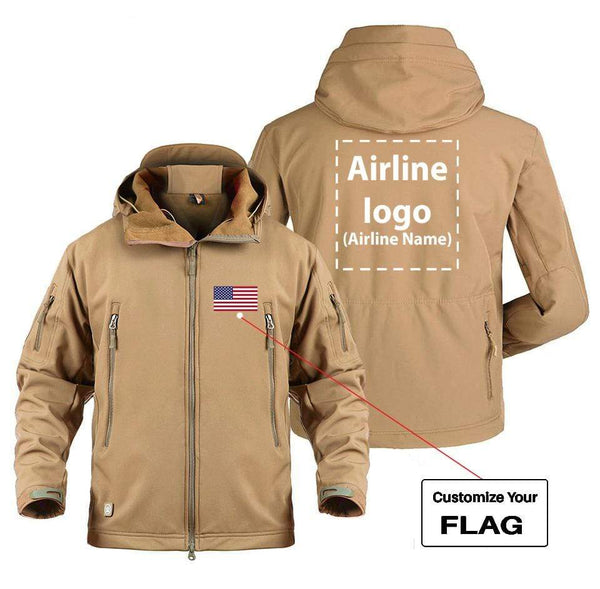 AIRPLANE LOVER Military Fleece CUSTOM FLAG & AIRLINE LOGO DESIGNED MILITARY FLEECE
