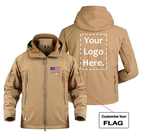 AIRPLANE LOVER Military Fleece CUSTOM FLAG & LOGO DESIGNED MILITARY FLEECE
