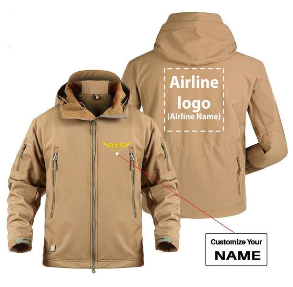 AIRPLANE LOVER Military Fleece CUSTOM NAME & AIRLINE LOGO DESIGNED MILITARY FLEECE