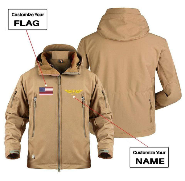 AIRPLANE LOVER Military Fleece CUSTOM NAME & FLAG DESIGNED MILITARY FLEECE
