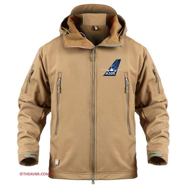 AIRPLANE LOVER Military Fleece Sand / S AIRBUS A320 TAIL DESIGNED MILITARY FLEECE