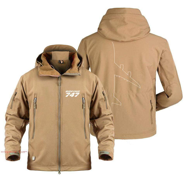 AIRPLANE LOVER Military Fleece Sand / S BOEING 747 DESIGNED MILITARY JACKET