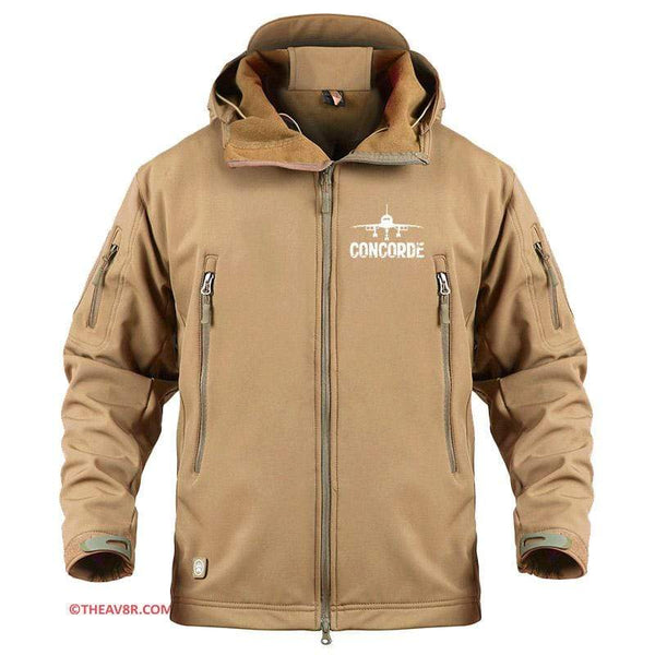 AIRPLANE LOVER Military Fleece Sand / S CONCORDE DESIGNEE MILITARY PILOT FLEECE
