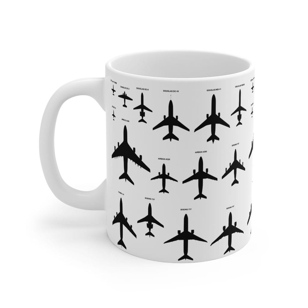 Printify Mug 11oz Aircraft top view