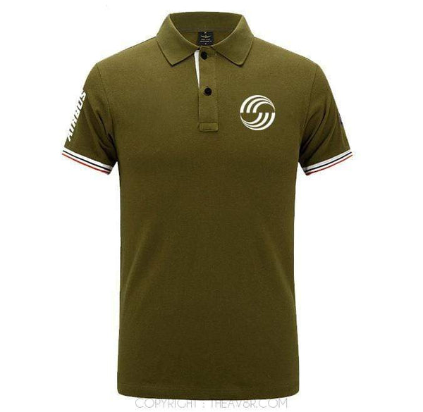 Airplane Lover polo Army green / S Airbus LOGO