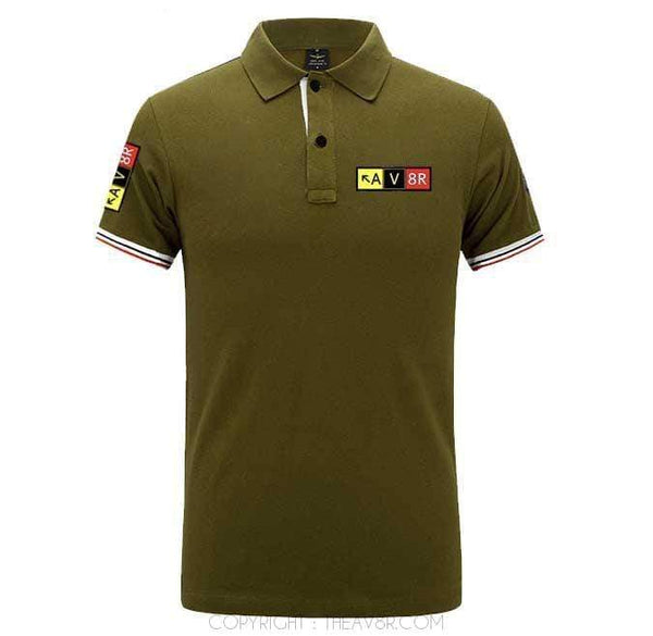 Airplane Lover polo Army green / S AV8R