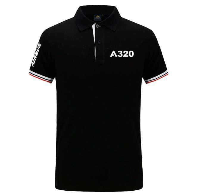 Airplane Lover polo Black / S Airbus A320