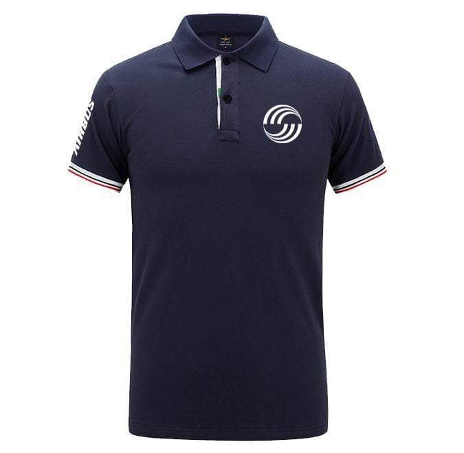 Airplane Lover polo Dark blue / S Airbus LOGO
